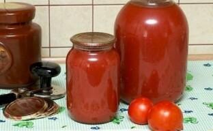 Густой томатный сок на зиму через мясорубку