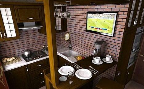 Разрабатываем дизайн маленькой кухни своими силами