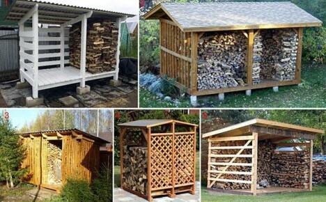 Как построить дровяник своими руками на дачном участке