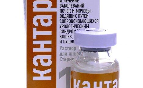 Для лечения мочекаменной болезни у животных используем Кантарен, инструкция по применению