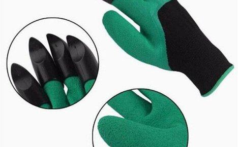 Для работ на даче купите садовые перчатки с когтями из Китая