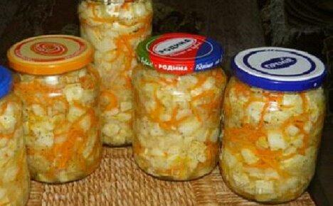 Рецепты салатов из патиссонов на зиму