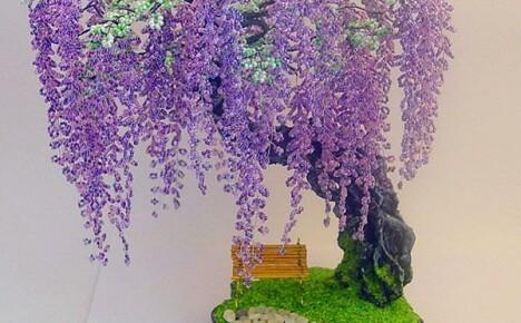 Нехитрые способы плетения деревьев из бисера