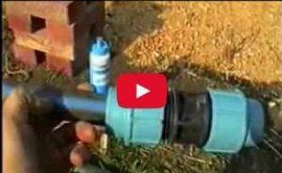 Как сделать капельный полив на огороде (видео)