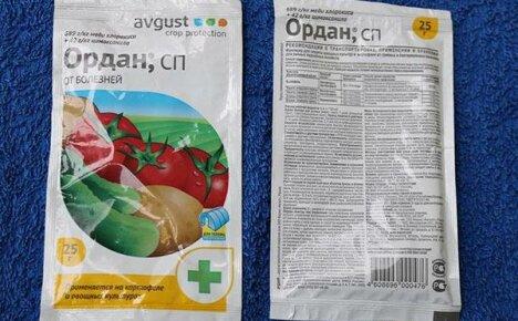 Инструкция по применению препарата Ордан для защиты огородных растений