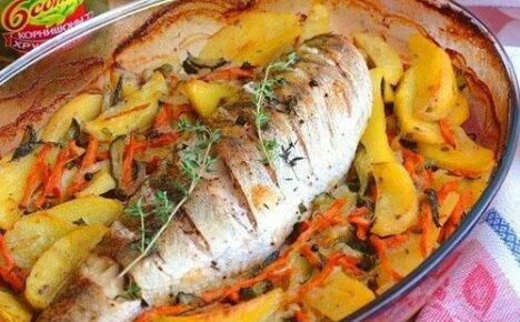 Для поклонников рыбных блюд – судак, запеченный в духовке