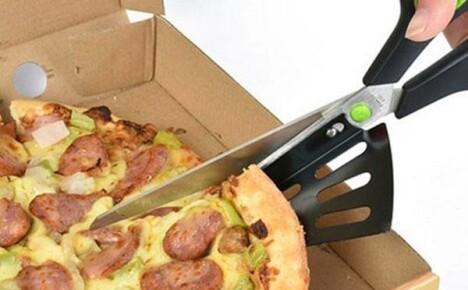 Необычный нож-ножницы из Китая для нарезания пиццы