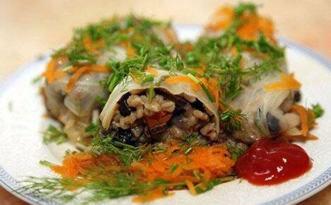 Блюдо вегетарианской кухни — постные голубцы