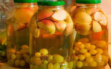 Компот из винограда и яблок – полезный рецепт на зиму