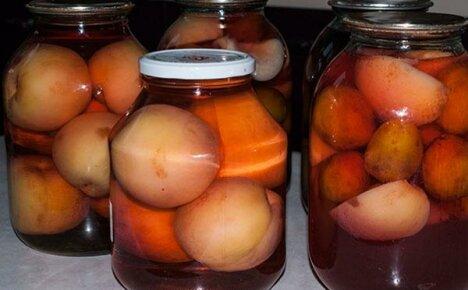Как закрыть компот из персиков на зиму в домашних условиях?