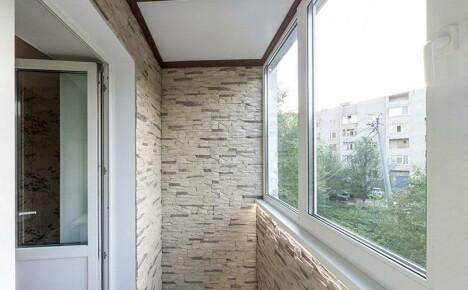 Внешняя и внутренняя отделка балкона