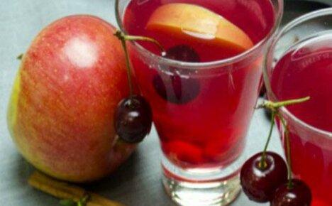 Витамины своими руками — компот из яблок и вишни