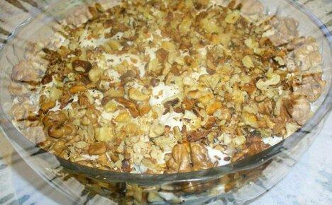 Салаты с грецкими орехами