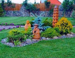 каменный бордюр