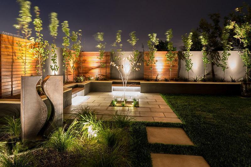 ландшафтный дизайн дачного участка освещение