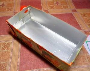 мини-ящик из тетрапакета