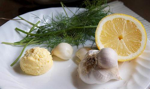 Ингредиенты для приготовления укропного закусочного масла