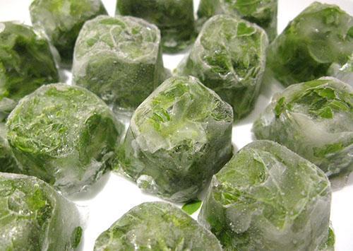 Мятные ледяные кубики