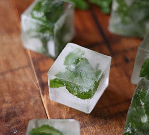 Замороженная мята в порционных кубиках