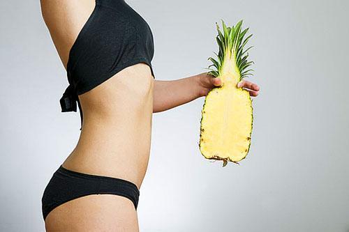 В ананасе нет жиров