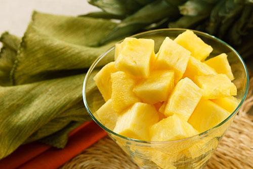 В замороженном ананасе сохраняются все полезные вещества