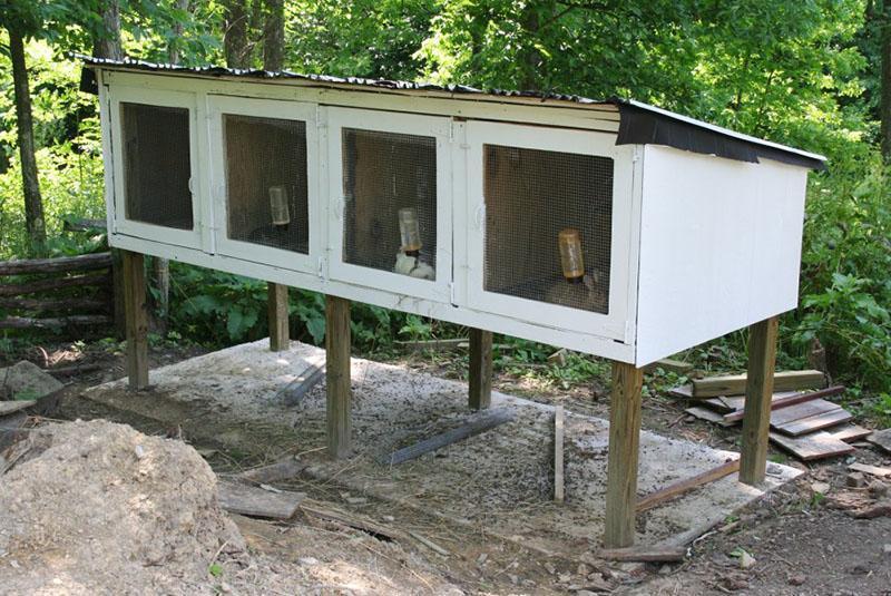 место для установки крольчатника