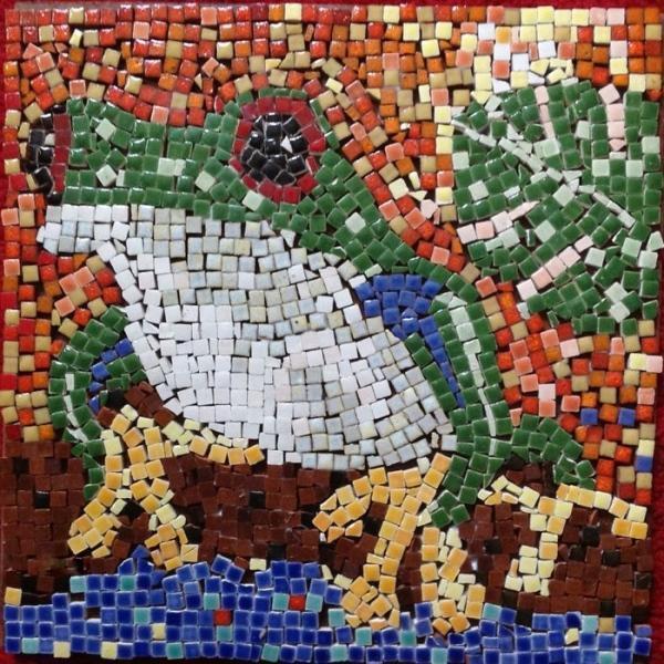 Лягушка мозаикой