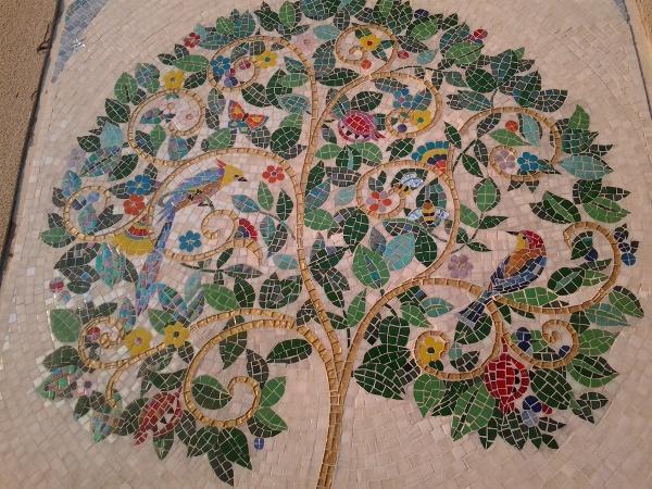 Мозаика дерево