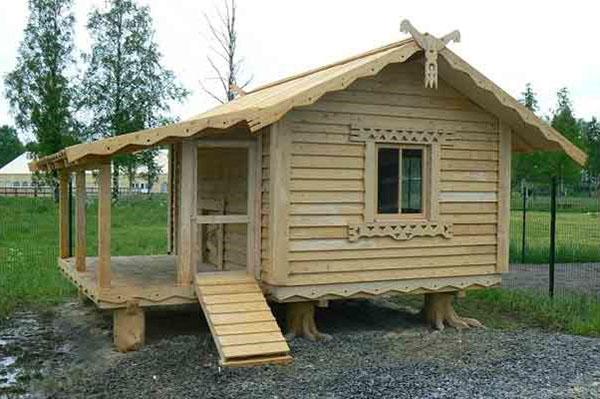 Пример деревянного курятника