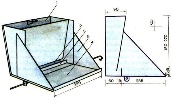 Устройство бункерной кормушки для поросят