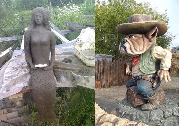 Скульптуры садовые