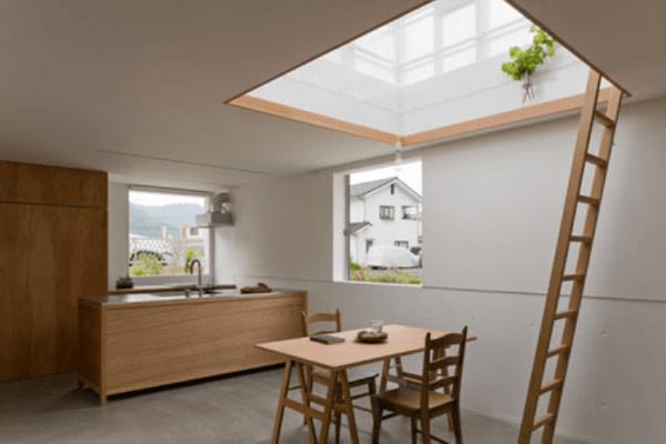 Лестница на крышу в теплицу