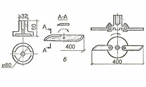 Размеры деталей самодельной газонокосилки