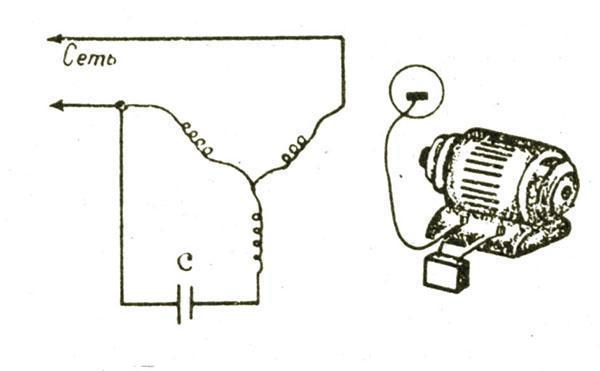 Схема соединения электрической цепи в газонокосилке