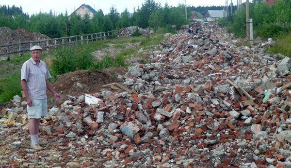Строительный мусор в качестве наполнителя