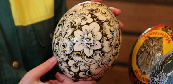 Роспись страусиных яиц