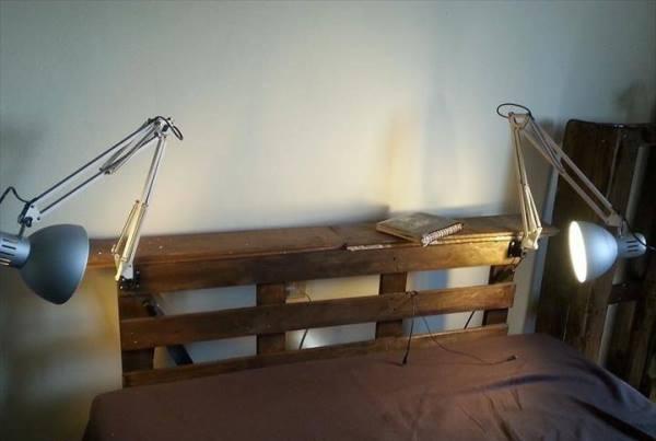 Изголовье кровати из поддонов