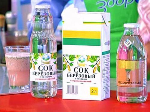 березовый сок из магазина
