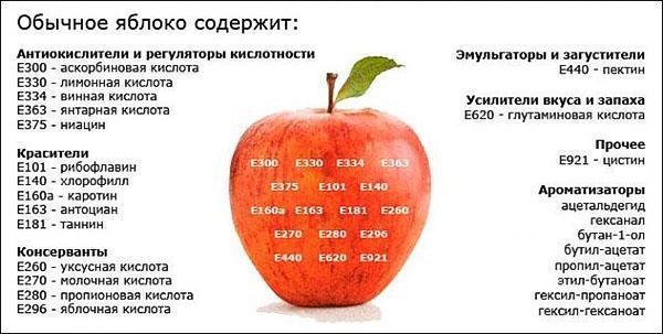 химический и энергетический состав яблока