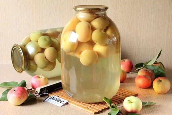 компот из целых яблок