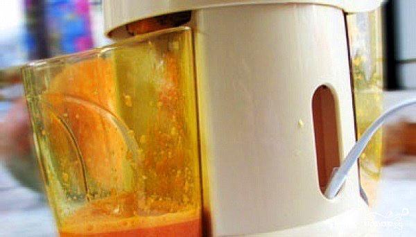 морковный сок через соковыжималку