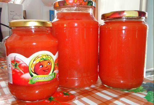 томатный сок без стерилизации
