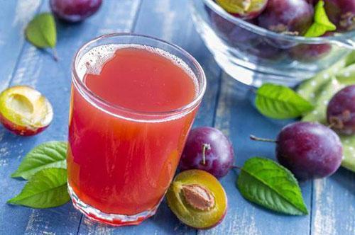 вкусный и полезный сок из слив