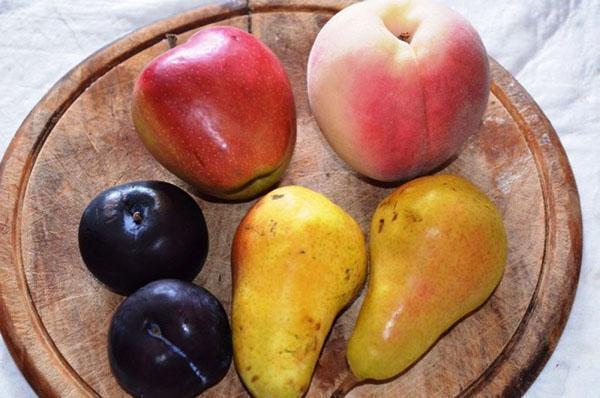 яблоки, груши и сливы
