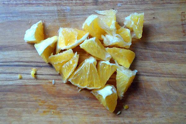измельчить апельсин