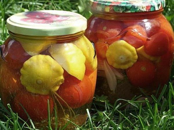 помидоры с патиссонами