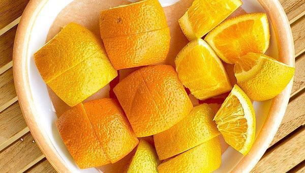разрезать апельсин
