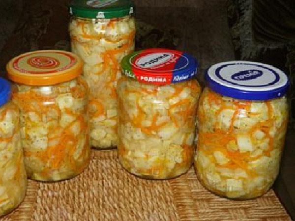салат из патиссонов лука моркови