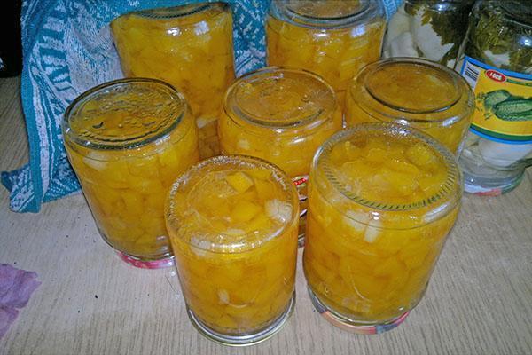 варенье из патиссонов с лимонами на зиму