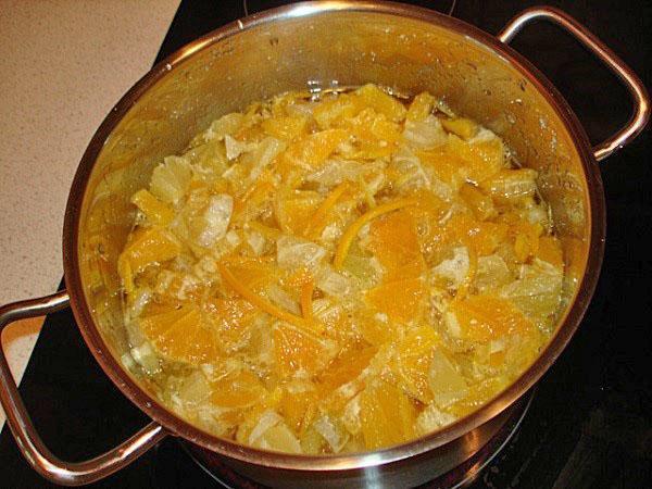 варится варенье из апельсин